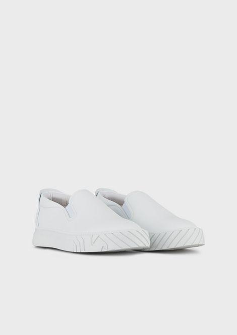 Slip-On-Sneakers mit Logo-Motiv auf der Sohle