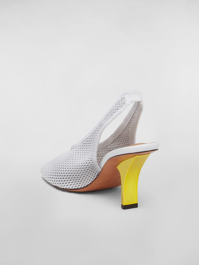 Marni Sling-back in lambskin with contrast color heel Woman