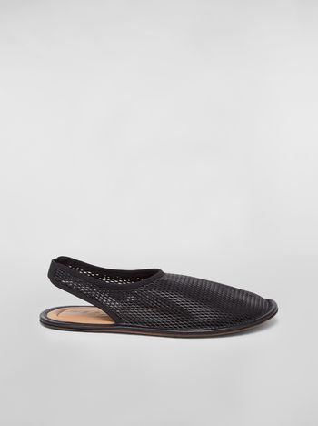 Marni Flat sling-back in lambskin Woman