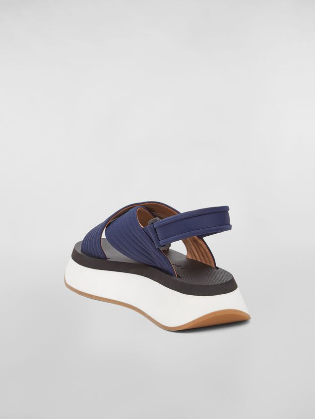 Marni Wedge-Sandalen aus Funktionsgewebe in Blau Damen