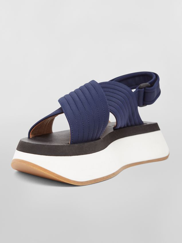 Marni Wedge-Sandalen aus Funktionsgewebe in Blau Damen - 5