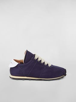 Marni Marni LIGHTFOOT sneaker in satin blue Woman