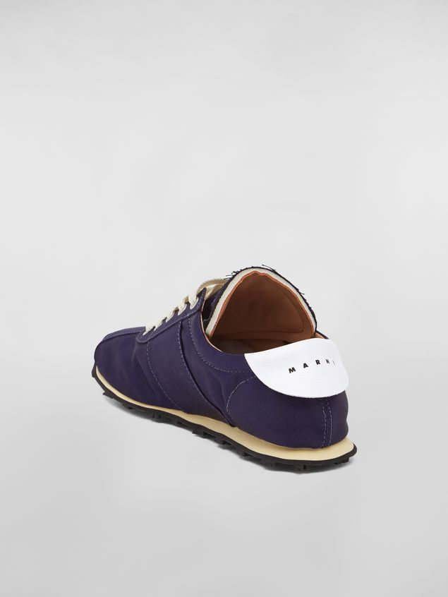 Marni Marni LIGHTFOOT sneaker in satin blue Woman