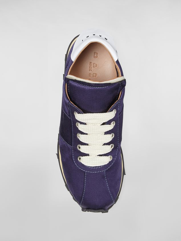 Marni Marni LIGHTFOOT sneaker in satin blue Woman - 4