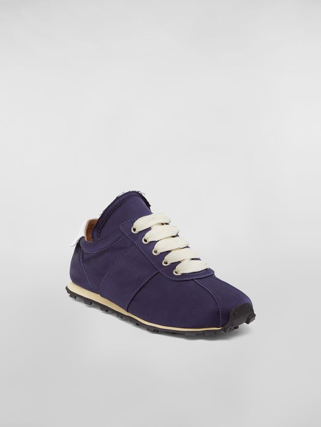 Marni Marni LIGHTFOOT sneaker in satin blue Woman - 2