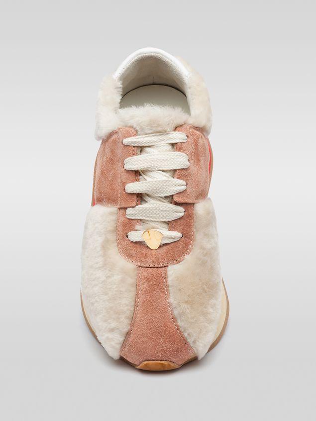 Marni Marni BIG FOOT sneaker in pink sheepskin Woman - 4