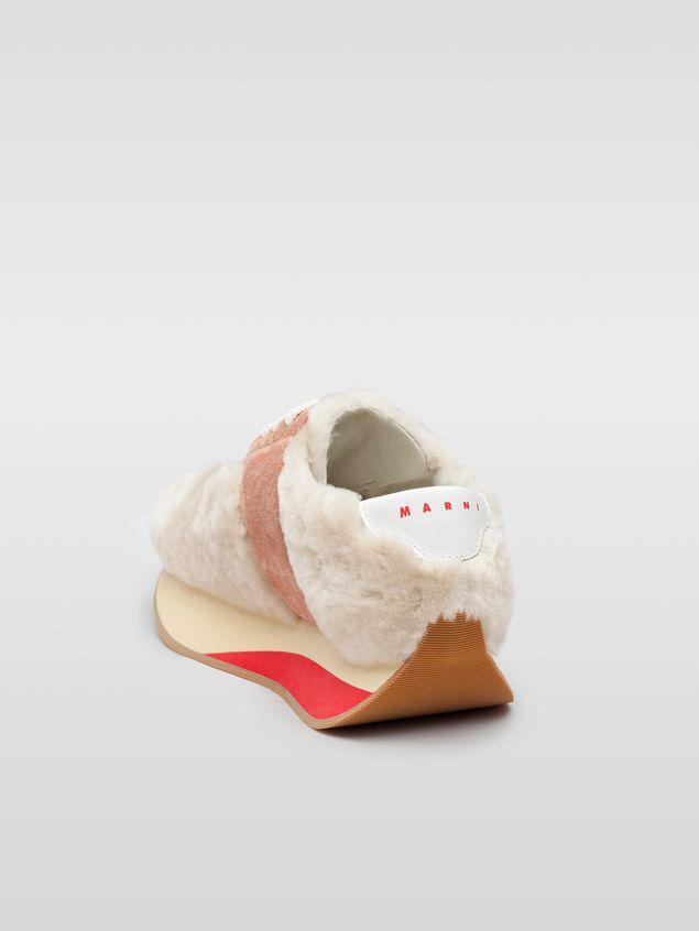 Marni Marni BIG FOOT sneaker in pink sheepskin Woman - 3