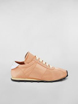 Marni Marni LIGHTFOOT sneaker in satin powder Woman