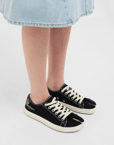 SHOES Tabi low top canvas sneakers Black