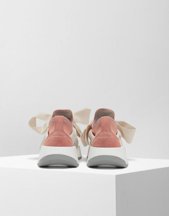 MM6 MAISON MARGIELA Ribbon tie platform runners Sneakers [*** pickupInStoreShipping_info ***] d