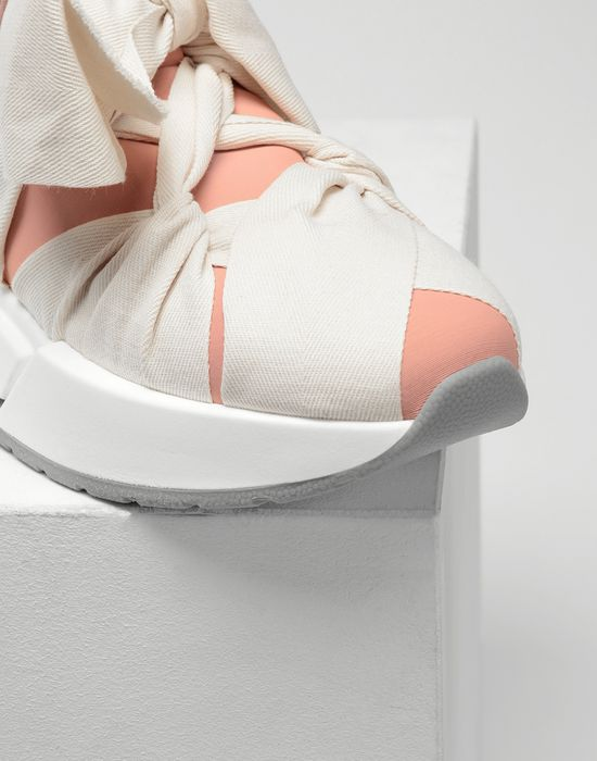 MM6 MAISON MARGIELA Ribbon tie platform runners Sneakers [*** pickupInStoreShipping_info ***] e