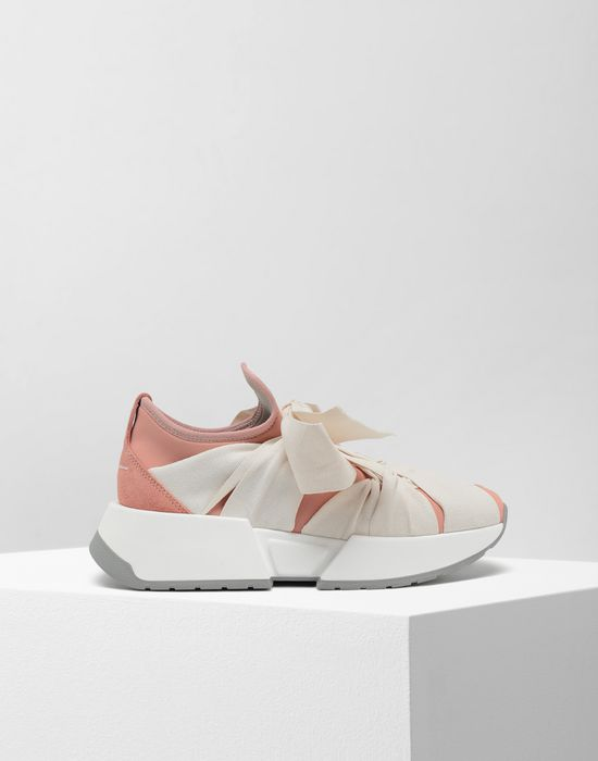 MM6 MAISON MARGIELA Ribbon tie platform runners Sneakers [*** pickupInStoreShipping_info ***] f