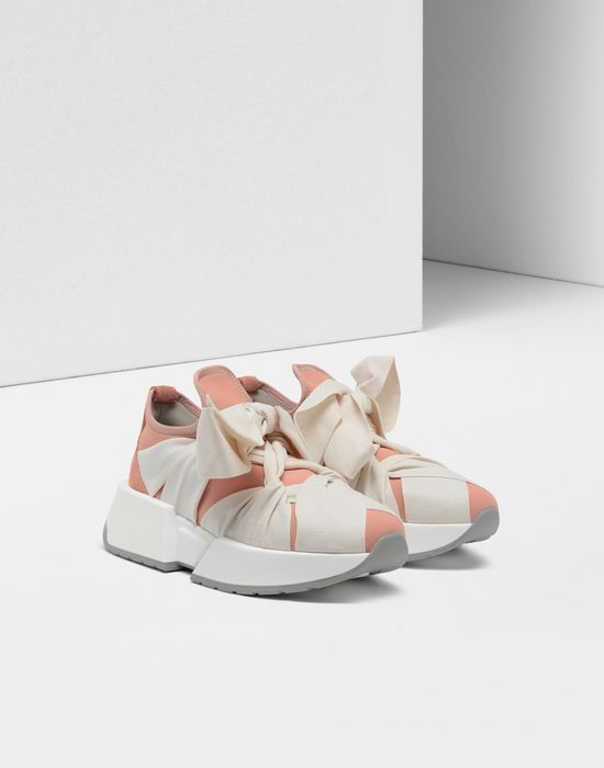 MM6 MAISON MARGIELA Ribbon tie platform runners Sneakers [*** pickupInStoreShipping_info ***] r
