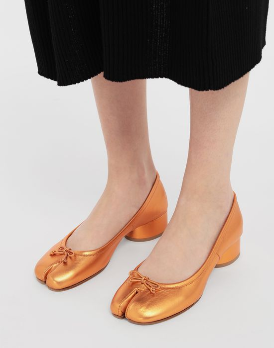 MAISON MARGIELA Tabi laminated leather ballerina pumps Ballet flats [*** pickupInStoreShipping_info ***] b