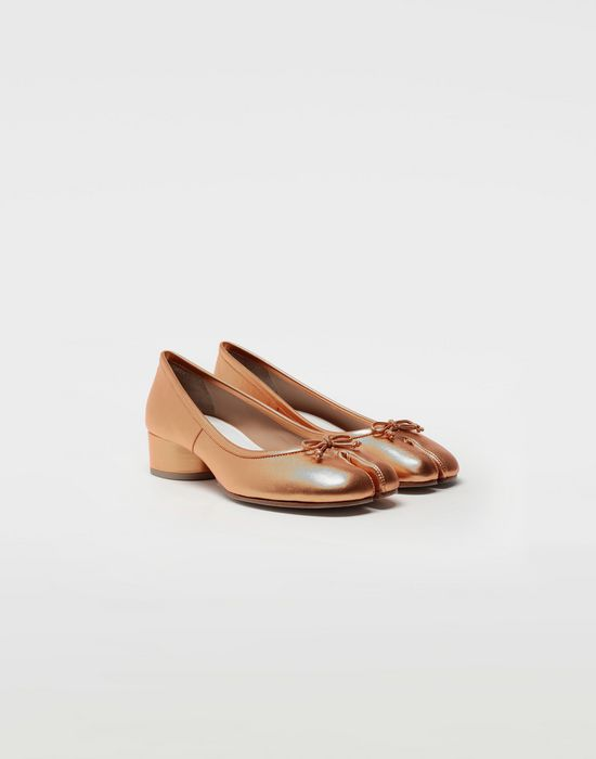MAISON MARGIELA Tabi laminated leather ballerina pumps Ballet flats [*** pickupInStoreShipping_info ***] r
