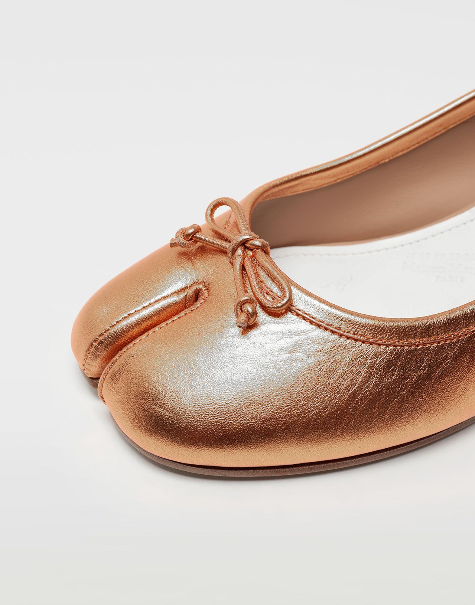 MAISON MARGIELA Tabi laminated leather ballerina pumps Ballet flats Woman a