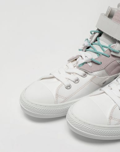 SHOES Spliced high top sneakers Lilac