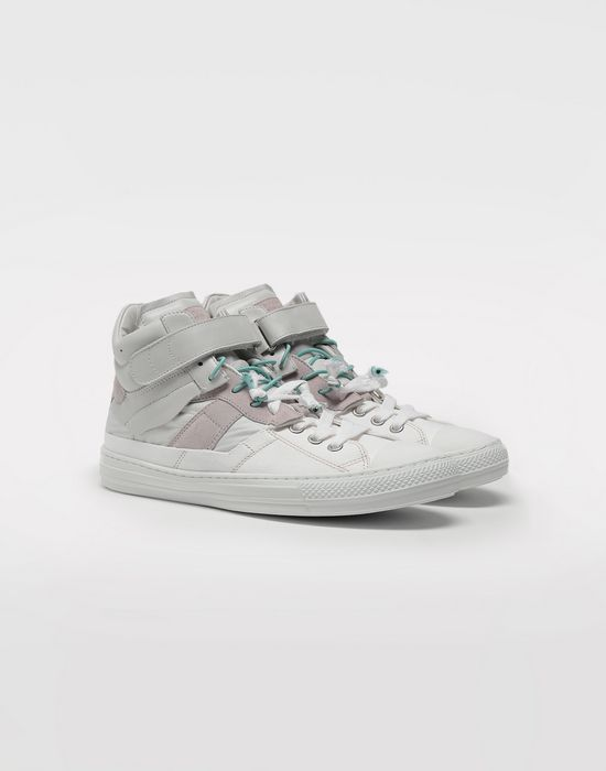 MAISON MARGIELA Spliced high top sneakers Sneakers [*** pickupInStoreShippingNotGuaranteed_info ***] r