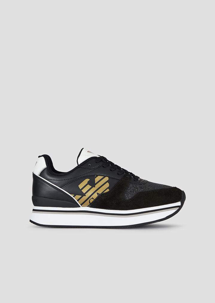buy popular 735a0 5ddb8 Sneaker mit dicker Sohle und Glitter-Applikationen
