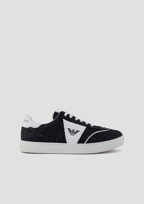Sneakers glitterate con logo laterale