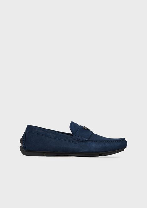 005ea5d14a5 Driver moccasins in suede with logo