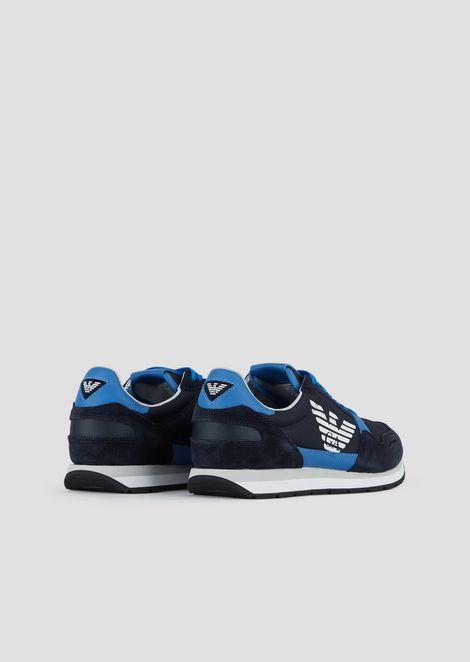 Sneakers in pelle scamosciata con logo laterale