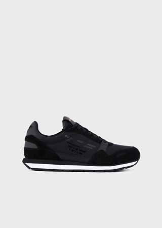 9cb0010336 Suede sneakers with side logo