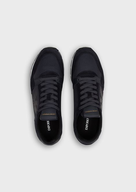 Suede sneakers with side logo