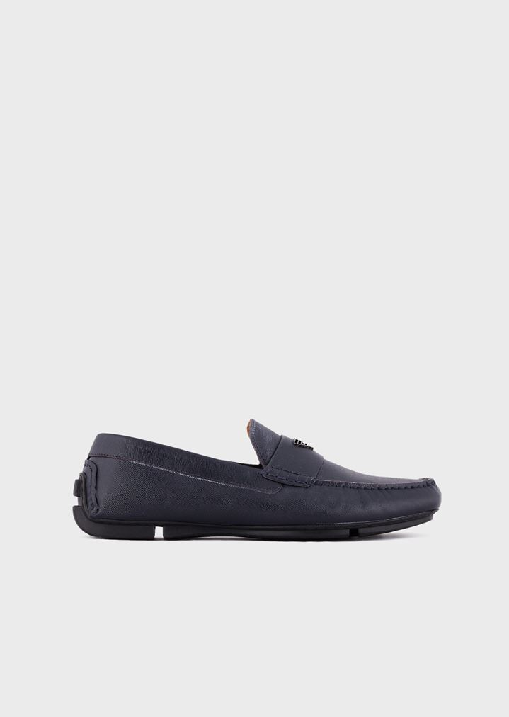 b62a1d3c4caa Driver moccasins in leather with logo