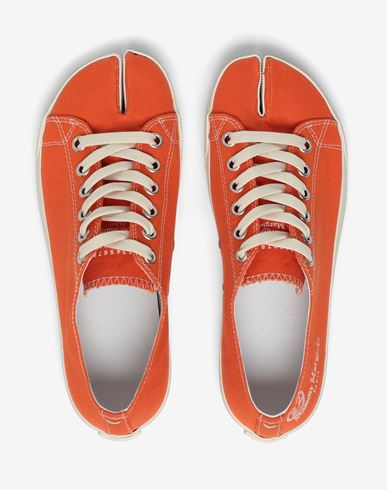 SHOES Tabi low top canvas sneakers Orange