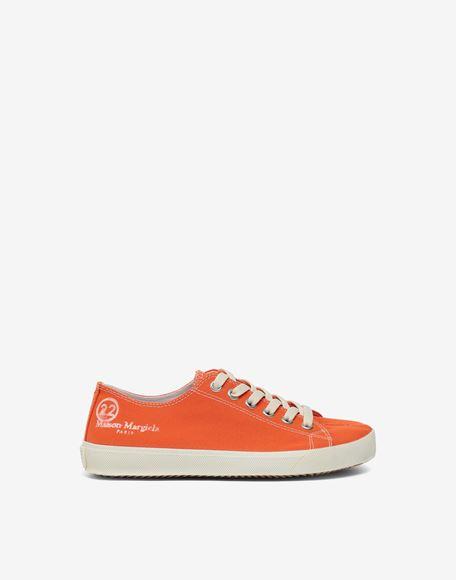 MAISON MARGIELA Низкие кроссовки Tabi из парусины Sneakers Tabi Для Женщин f