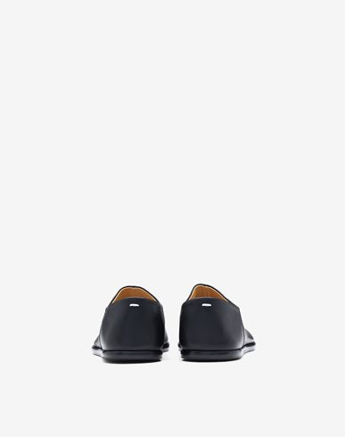 SHOES Tabi leather slip-ons Black
