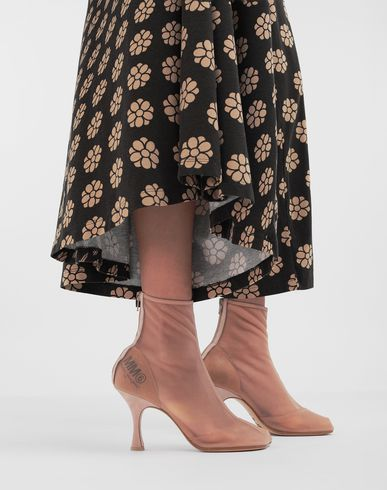 SHOES Toe-shaped mesh ankle boots