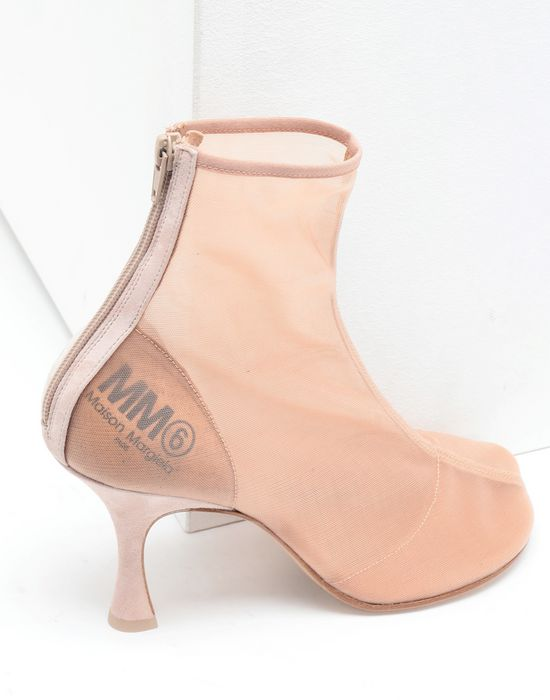 MM6 MAISON MARGIELA Toe-shaped mesh ankle boots Ankle boots [*** pickupInStoreShipping_info ***] e
