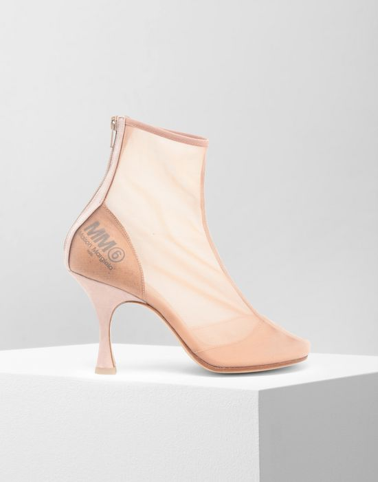 MM6 MAISON MARGIELA Toe-shaped mesh ankle boots Ankle boots [*** pickupInStoreShipping_info ***] f