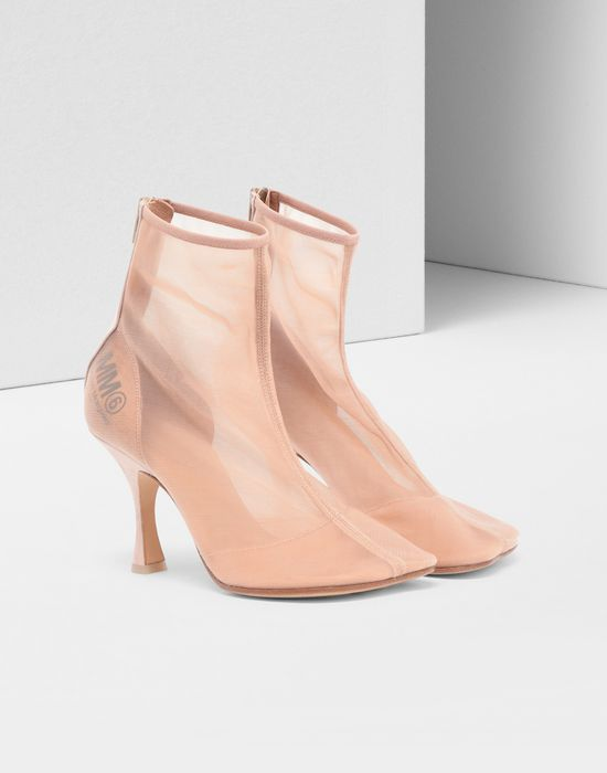 MM6 MAISON MARGIELA Toe-shaped mesh ankle boots Ankle boots [*** pickupInStoreShipping_info ***] r