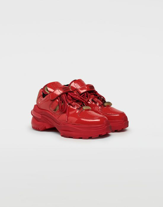 MAISON MARGIELA Retro Fit laminated low top sneakers Sneakers [*** pickupInStoreShippingNotGuaranteed_info ***] r