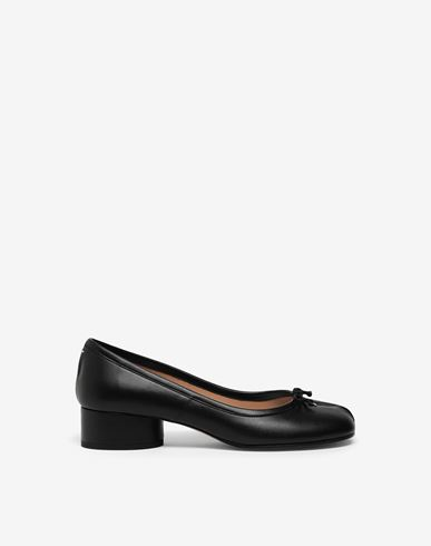 SHOES Tabi leather ballerina pumps Black