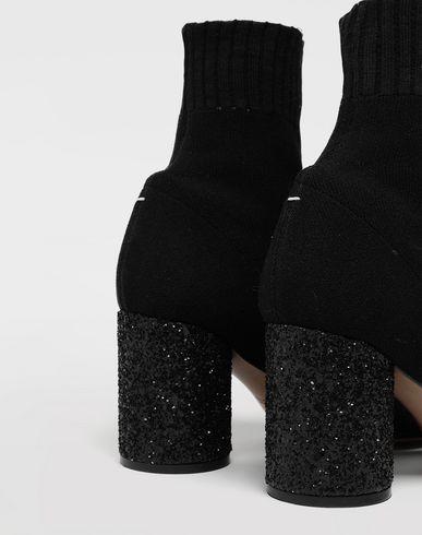 SHOES Tabi knit sock boots Black