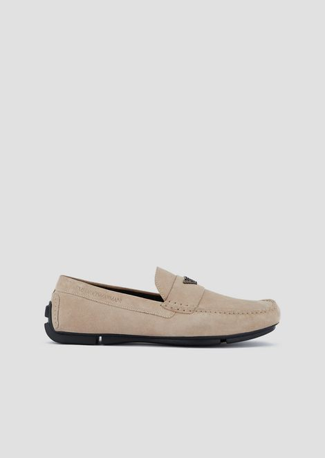 169ce8e54ef7 Driver moccasins in suede with logo