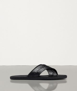 PLAGE CRISS-CROSS SANDAL IN CALF LEATHER