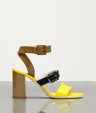 SANDAL IN PATENT CALF LEATHER