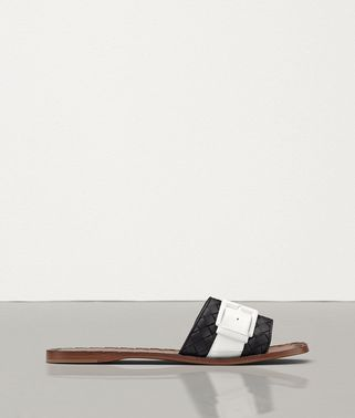 RAVELLO SANDAL IN INTRECCIATO NAPPA AND PATENT LEATHER