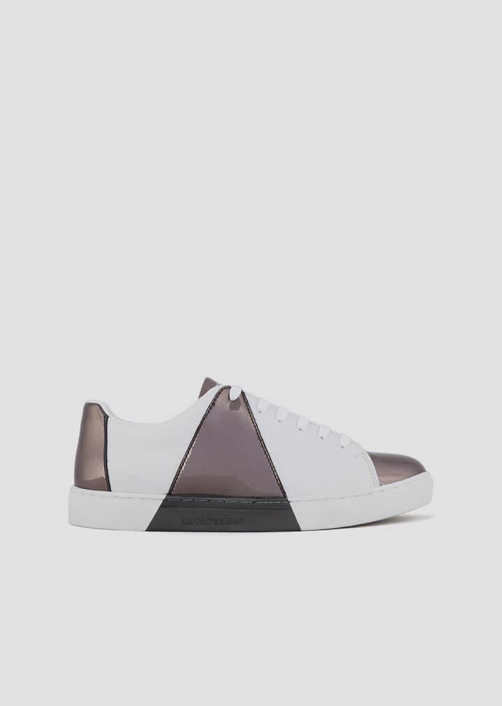 4f01ca1977 Leather sneakers with mirrored detail print