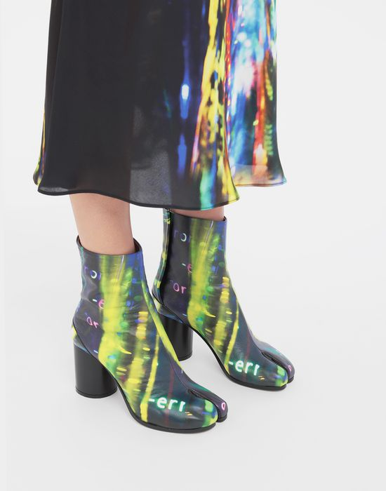 MAISON MARGIELA Tabi Error-print leather boots Tabi boots [*** pickupInStoreShipping_info ***] b