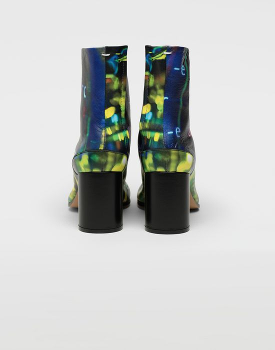 MAISON MARGIELA Tabi Error-print leather boots Tabi boots [*** pickupInStoreShipping_info ***] d