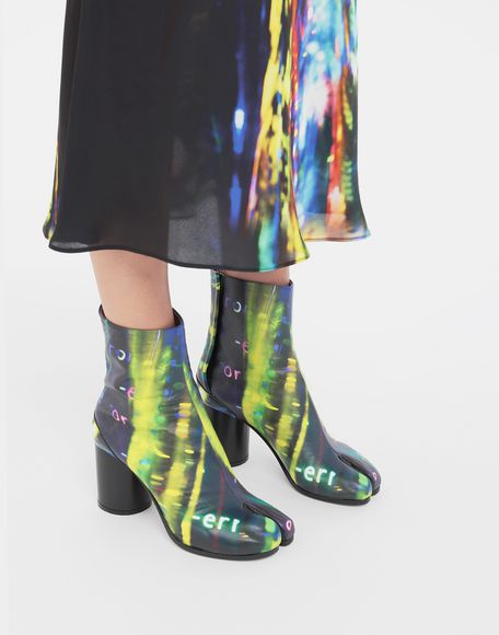 MAISON MARGIELA Tabi Error-print leather boots Tabi boots Woman b