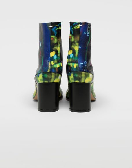 MAISON MARGIELA Tabi Error-print leather boots Tabi boots Woman d