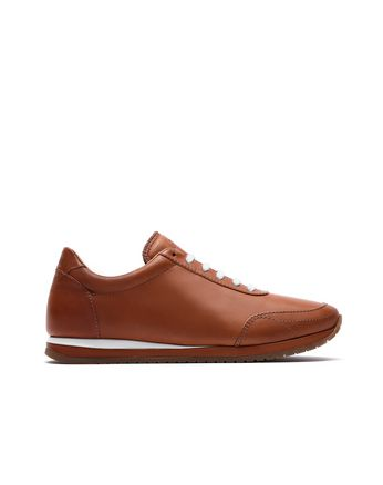 Sneakers de running marron et blanc