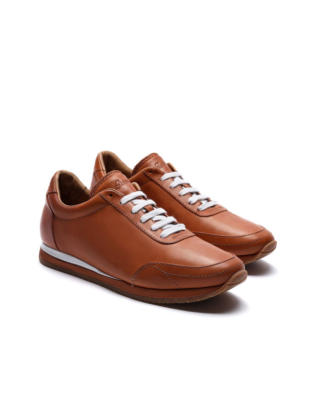 BRIONI Brown and White Runner Sneakers Sneakers [*** pickupInStoreShippingNotGuaranteed_info ***] d